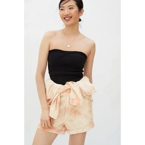 Anthropologie Black Classic Tube Top Large New
